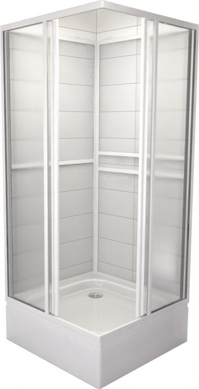 Teiko SBOXRH 2/90 - sprchový box čtvercový, rohový vstup, 90x90x185, výplň pearl SBOXRH 2/90