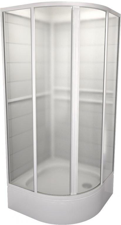 Teiko SBOXKH 2/90 - sprchový box čtvrtkruhový, 2 posuvné díly, 90x90x185, výplň pearl SBOXKH 2/90