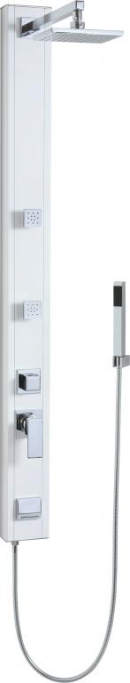 Teiko Magma hranatý nástěnný - sprchový panel s pákovou baterií bílý Magma hranatý nástěnný bílý