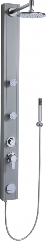 Teiko Magma kulatý nástěnný - sprchový panel s pákovou baterií bílý Magma kulatý nástěnný bílý