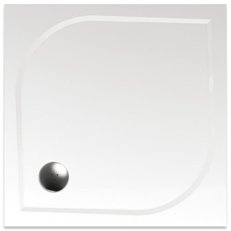 Teiko Draco - sprchová vanička čtvercová 90 x 90 x 3 cm litý mramor Draco 90x90