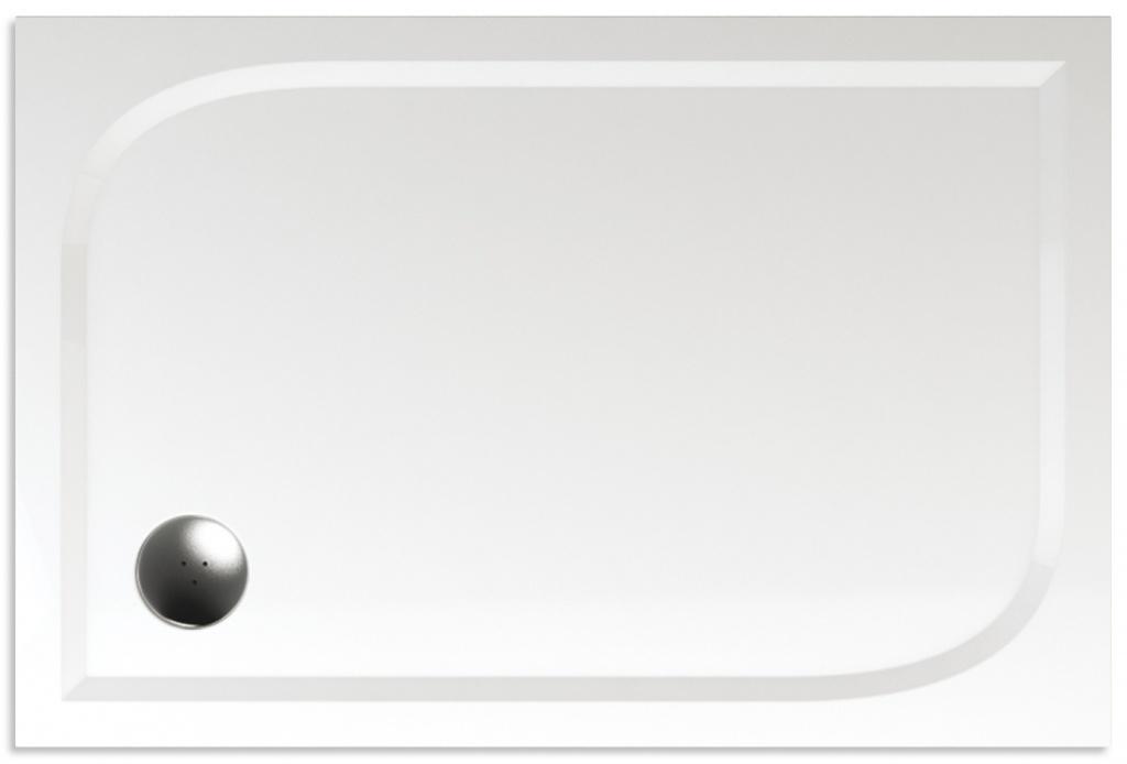 Teiko Draco - sprchová vanička obdélníková 120 x 90 x 3 cm litý mramor Draco 120x90