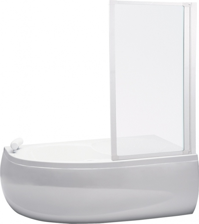 Teiko VZKR 1/70 - vanová zástěna jednodílná 70x135 cm, plast pearl VZKR 1/70 P