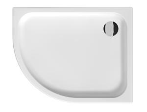 Tigo - keramická sprchová vanička, asymetrická,100x80 cm pravá, antislip