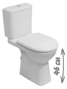 Jika Olymp - kombiklozet se zvýšenou výškou 45 cm, odpad zadní, bez nádržky a sedátka H8236180000001