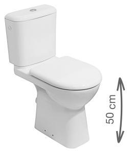 Jika Olymp - kombiklozet se zvýšenou výškou 48 cm, odpad spodní, bez nádržky a sedátka H8236170000001