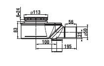 Sifon pro keramické vaničky 90, průtok 54 l/min