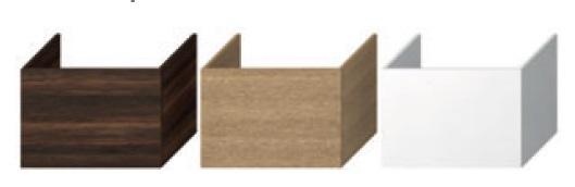 Jika Cubito-N - skříňka pod desku 64 cm, 1 zásuvka, tmavá borovice H41J4243014611