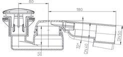 Jika Sifon pro keramické vaničky 60/40, průtok 33 l/min H2949830000001