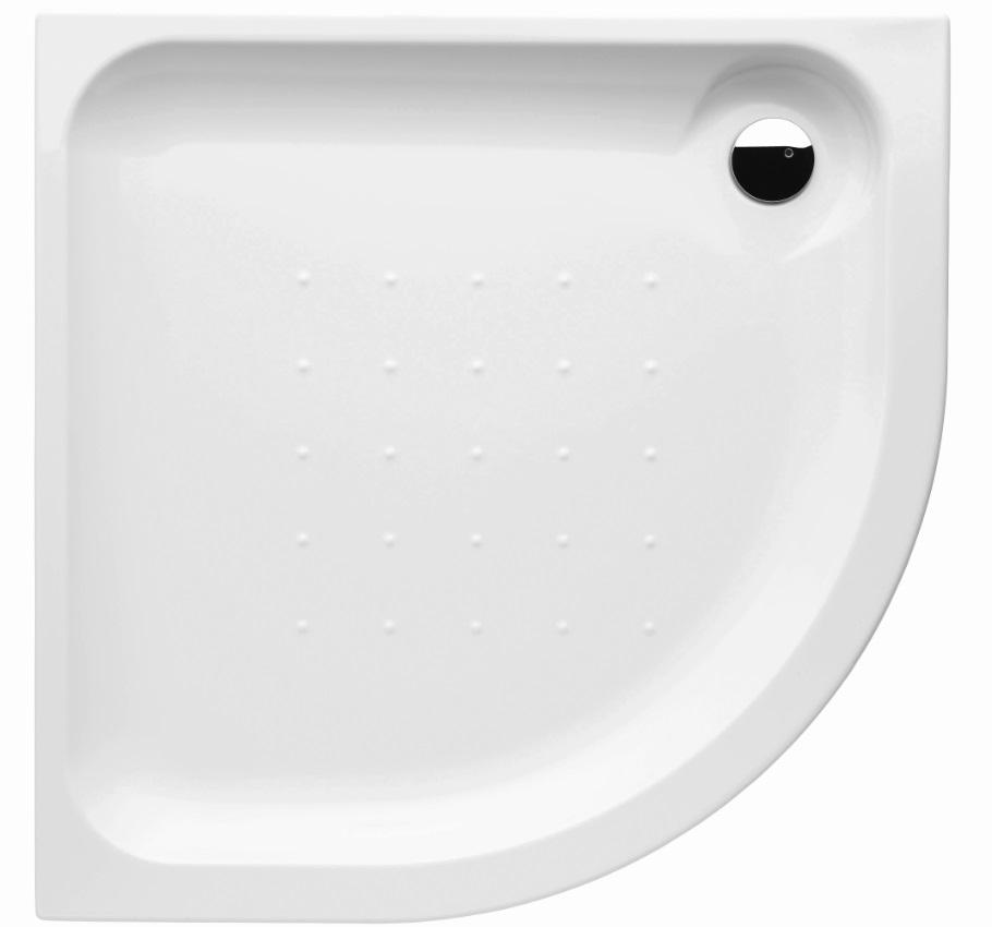 Deep by Jika - sprchová vanička čtvrtkruhová, samonosný rám, 80x80 cm R55