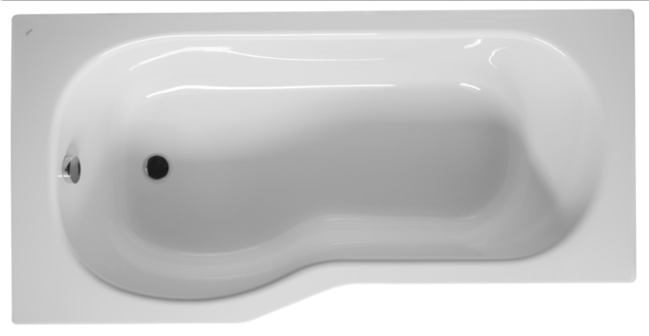 Jika Tigo - vana asymetrická 160x80/70 cm, pravá, pro instalaci s panelem H2222100000001