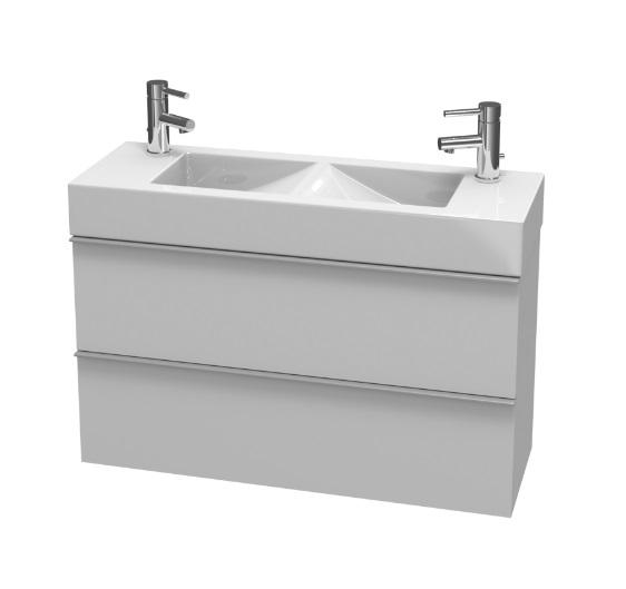 Jika Pure - skříňka pod dvojumyvadlo 100 cm, 2 zásuvky H4559021745001