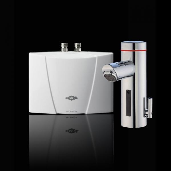 Clage - Krabec MBX 7 Lumino - 6,5 kW malý průtokový ohřívač, s bezdotykovou armaturou a optickou indikací teploty 1500-151171,2