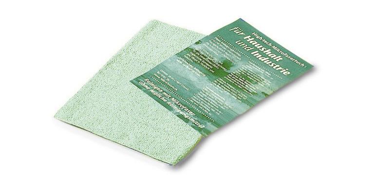 Franke: sanita Ručník z mikrovlákna zelený, pro nerezovou ocel s jemným matovým povrchem RT-GREEN