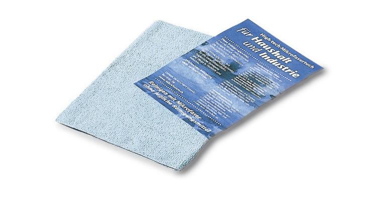 Franke: sanita Ručník z mikrovlákna modrý, pro zrcadla z nerezové oceli s povrchem leštěným do vysokého lesku RT-BLUE