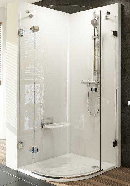 Ravak Brilliant - sprchový kout čtvrtkruhový BSKK3 90x90 pravý 3UP77A00Y1+D01000A092