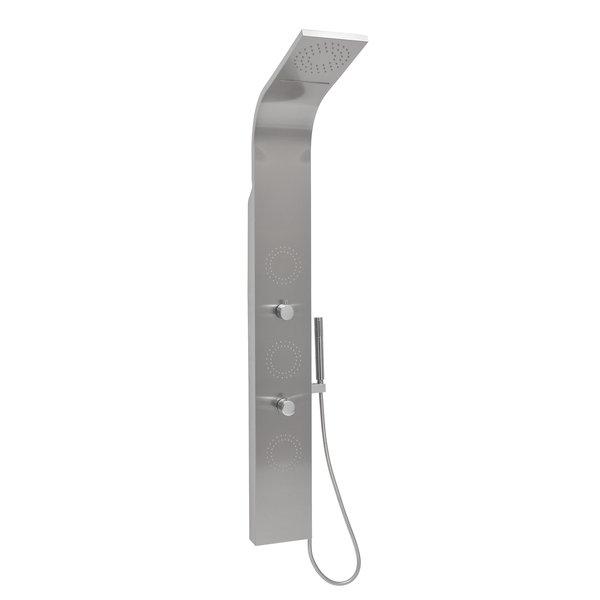 Ravak Jet Inox - nerezový hydromasážní panel s termostatem X01453