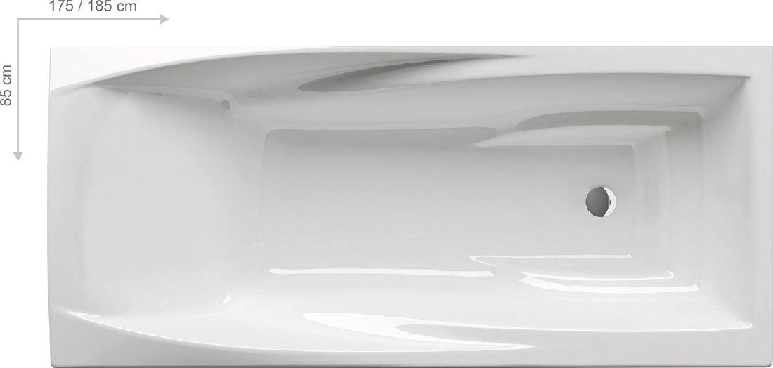 Ravak Vana You 175x85 N, skrytý přepad C791200000