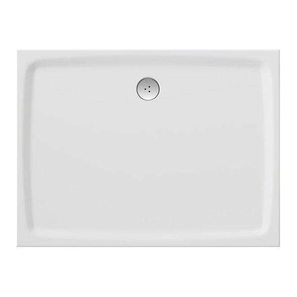Ravak Gigant Pro Flat - sprchová vanička obdélníková 80x100 litý mramor XA03A411010
