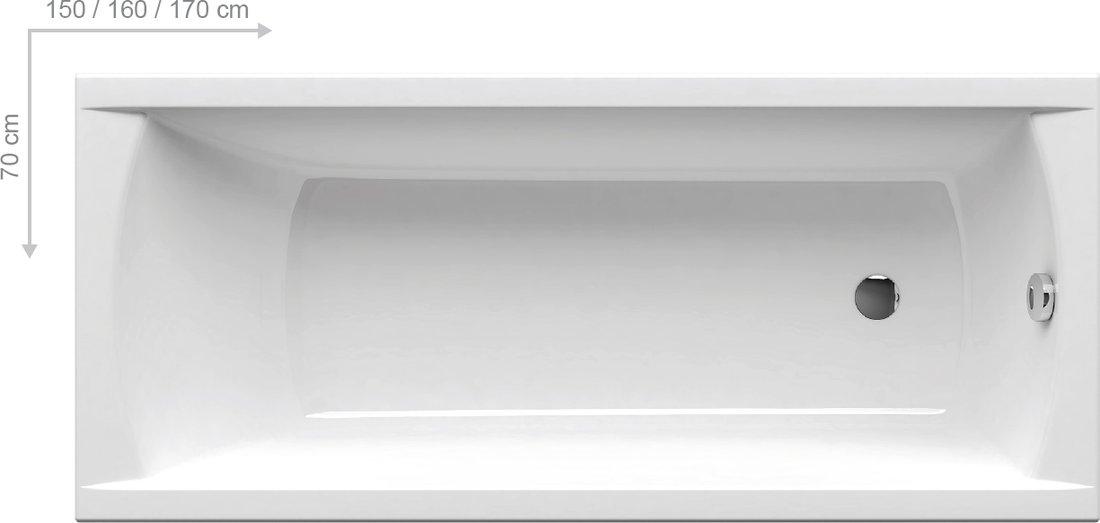Ravak Classic - obdélníková vana 170x70 C541000000