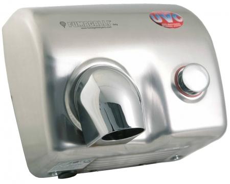 Bono HS Magnum 88P UVC(s) - osoušeč rukou, UV lampa, tlačítko, nerez satén C5MA131