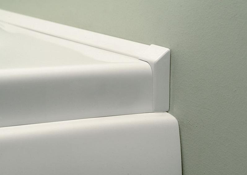 Polysan Lišta kolem sprchové vaničky 1200+1000 mm, 2x roh, 2x ukončení 91021