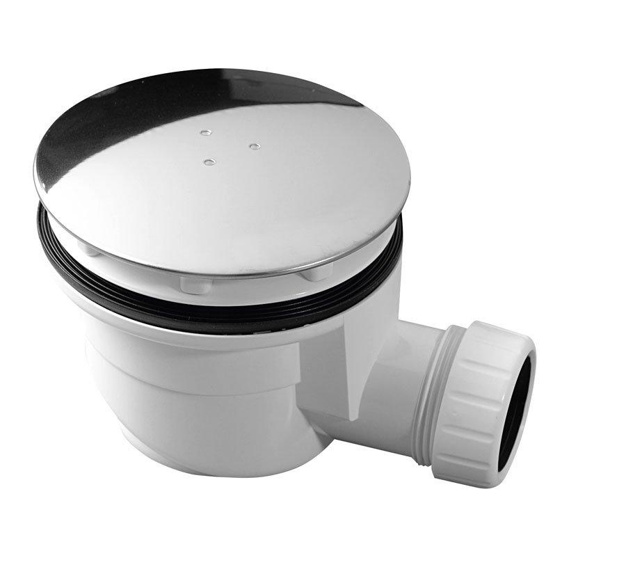 Kulatý sifon pro otvor 90 mm, chrom