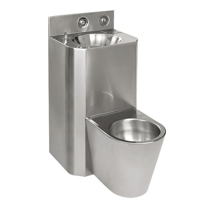 Sanela SLWN 38 - WC s umyvadlem rovný, WC na zemi, servisní otvor 94282
