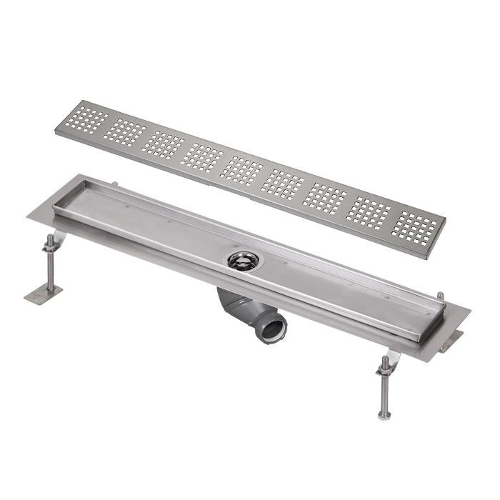 Sanela SLKN 03F - Nerezový koupelnový žlábek, délka 800 mm, vzor F 69036