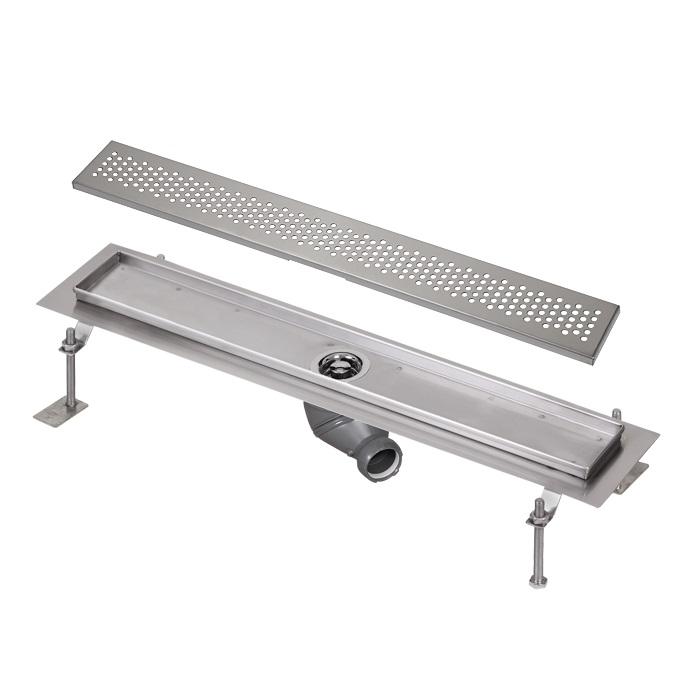 Sanela SLKN 03B - Nerezový koupelnový žlábek, délka 800 mm, vzor B 69032