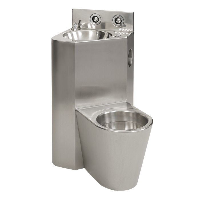 Sanela SLWN 18ZL - WC s umyvadlem do rohu, WC závěsné vlevo, servisní otvor 94183