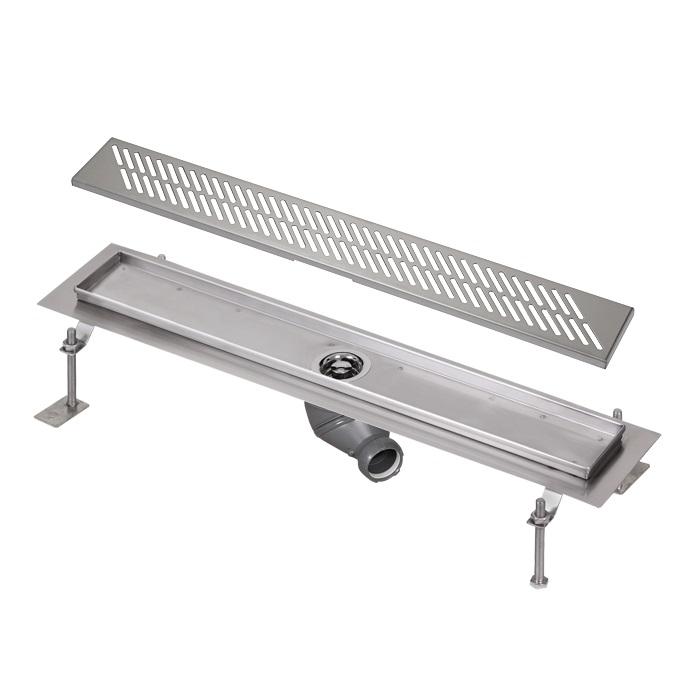 Sanela SLKN 03D - Nerezový koupelnový žlábek, délka 800 mm, vzor D 69034