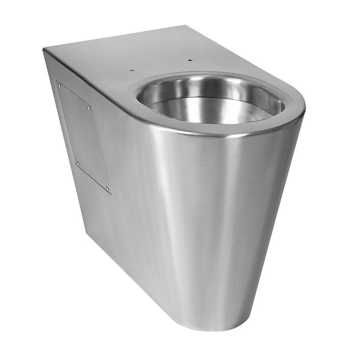 Sanela SLWN 13 - Nerezové antivandalové WC na podlahu pro tělesně handicapované, bez sedátka 94130