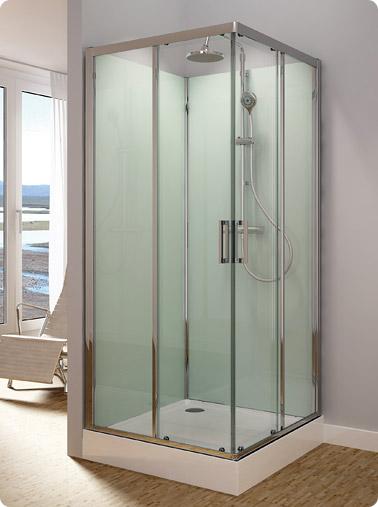 Ronal (SanSwiss) Modul´R - kompletní sprchová kabina 80x80 cm, termostatická baterie s přepínačem 14020421