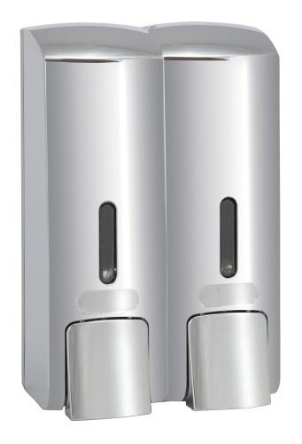 Bemeta design Dvojitý dávkovač tekutého mýdla, plast, lesk 121209132