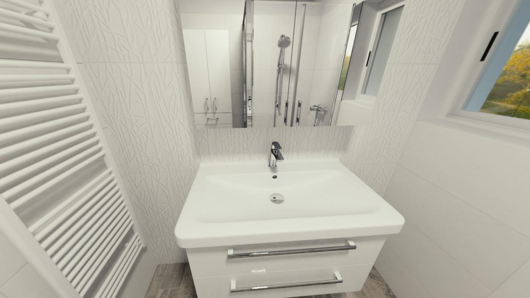3D návrh - koupelna Adilio Rivo