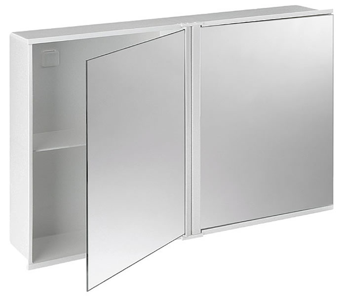 017-103 koupelnová skříňka se zrcadlem, 34x55x10 cm