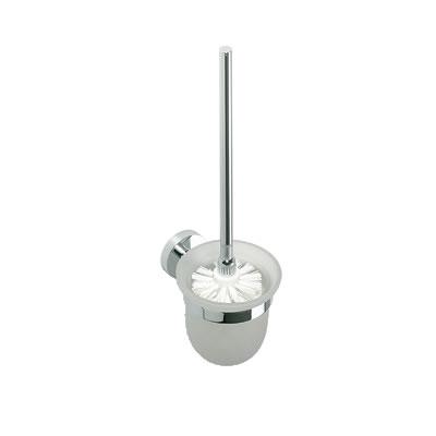 Omega - WC štětka, miska sklo, kartáč bílý