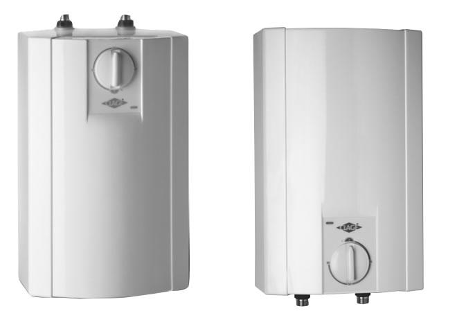 Clage - Krabec S5-U - 5 l, 2 kW zásobníkový ohřívač vody, spodní montáž 4100-42052