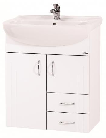 Dřevojas Dreja 65 S - skříňka s umyvadlem, závěsná, bílá 12284