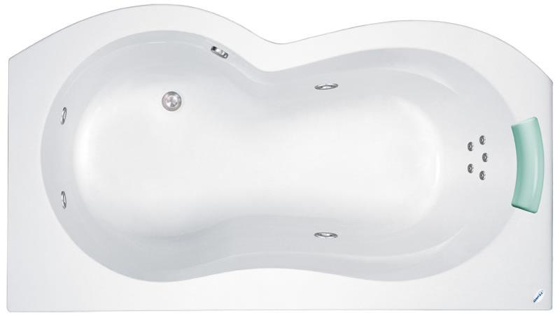 Teiko Jáva 160x90 P/L - masážní systém Duo (vodní a vzduchová masáž) DUO - Jáva P/L