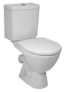 Jika Lyra Plus - klozet stojící, kombinační, hluboké splachování, šikmý odpad, boční napouštění, bez sedátka H8263840002413