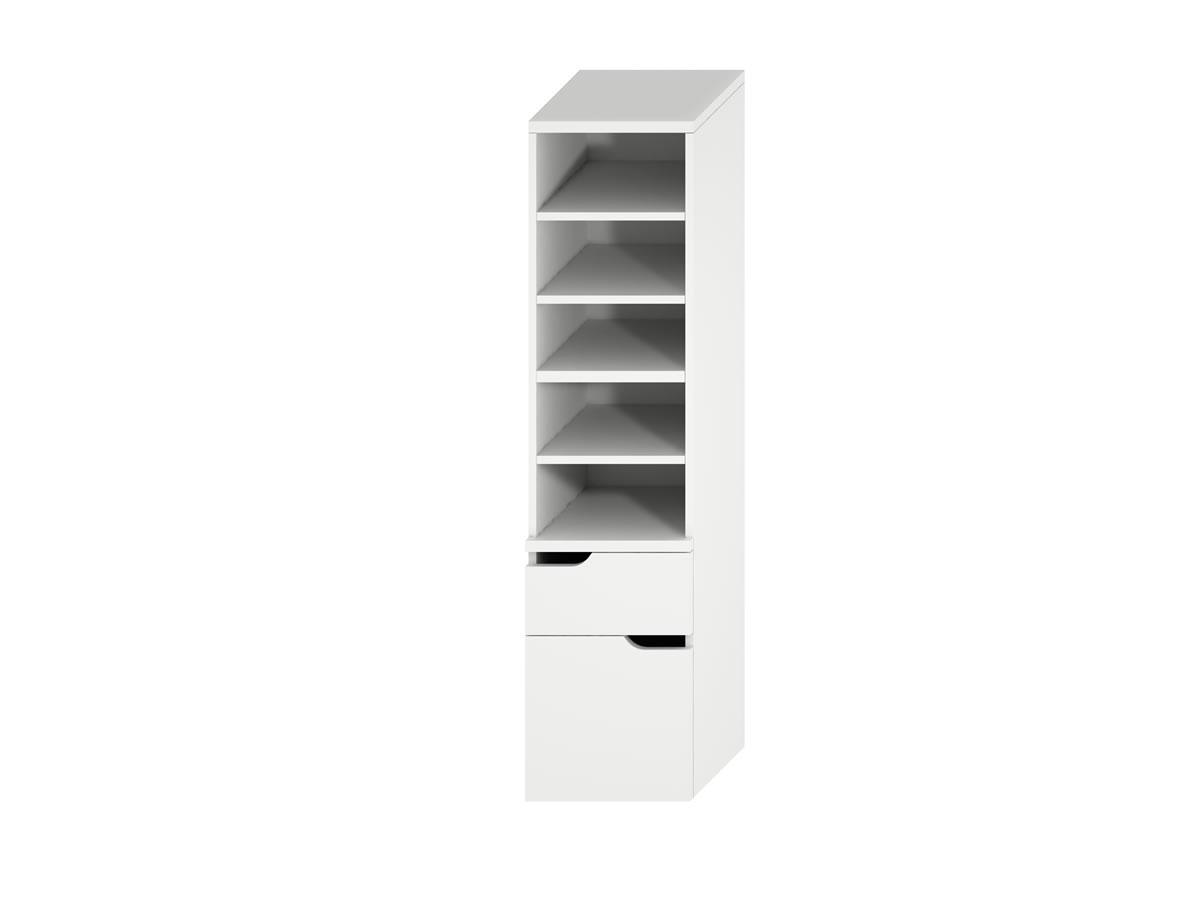 Jika Mio - vysoká skříňka se 2 zásuvkami, bílá H4341911715001