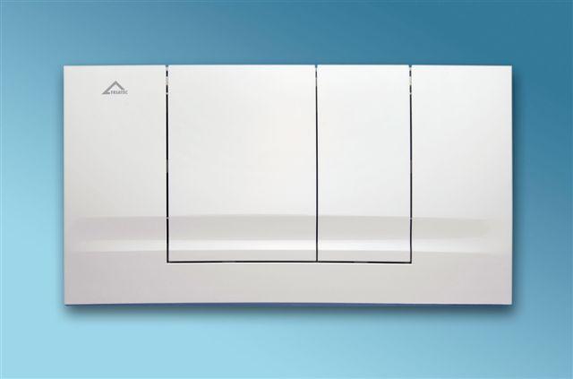 Ovládací tlačítko 01 - bílá alpská, lesklá - přestavbový set (náhrada za 331001)