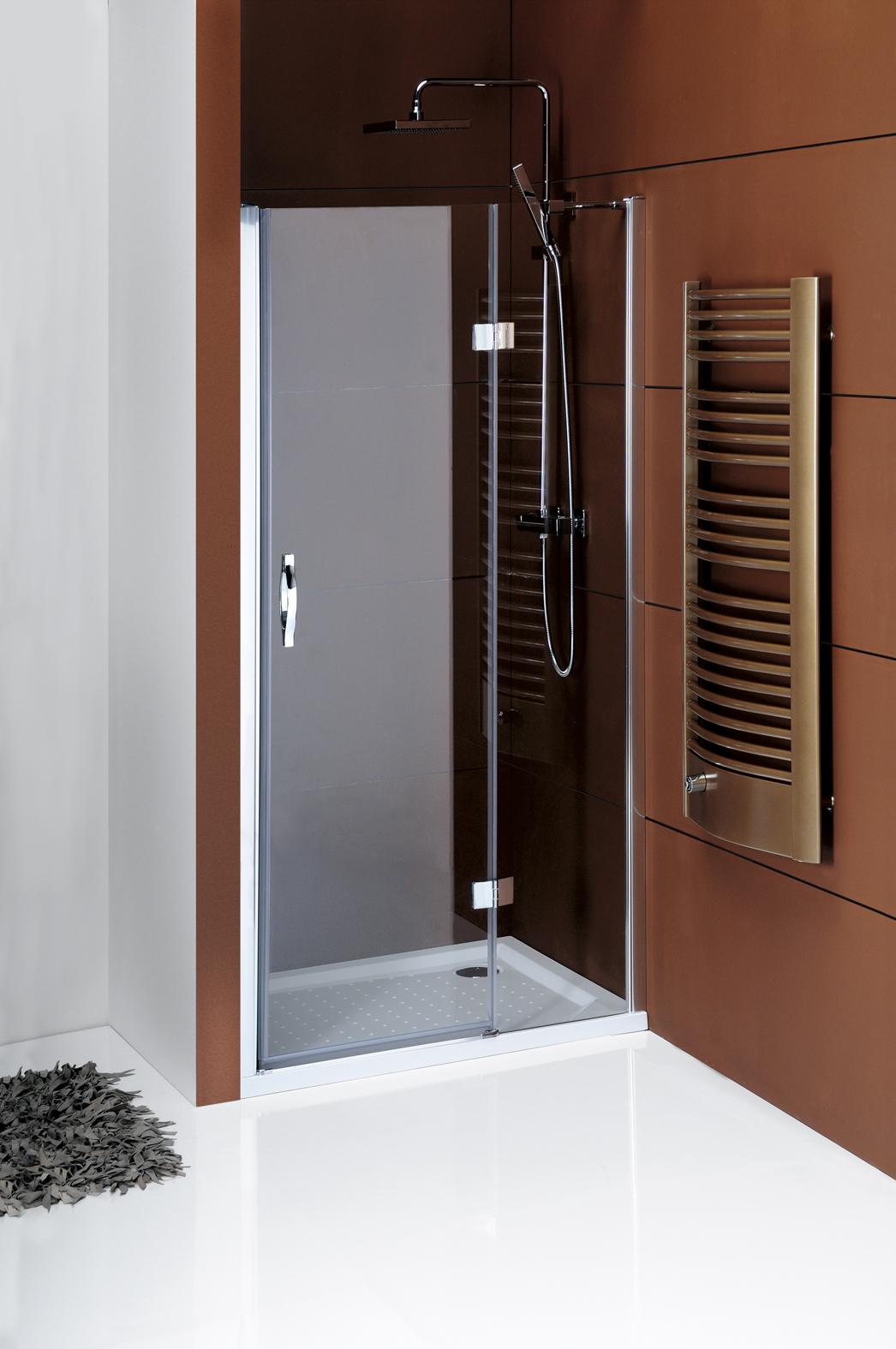 Gelco Sprchové dveře Legro do niky jednodílné otočné 80 cm, sklo čiré/leštěný profil GL1280
