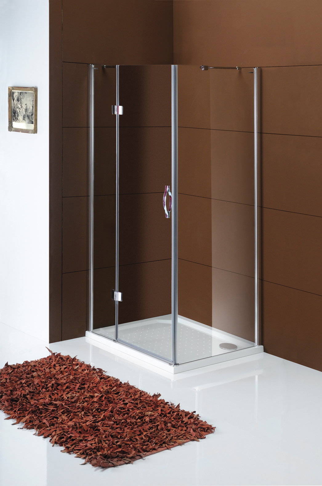 Gelco Sprchové dveře Legro jednodílné otočné 110 cm, sklo čiré/leštěný GL1111
