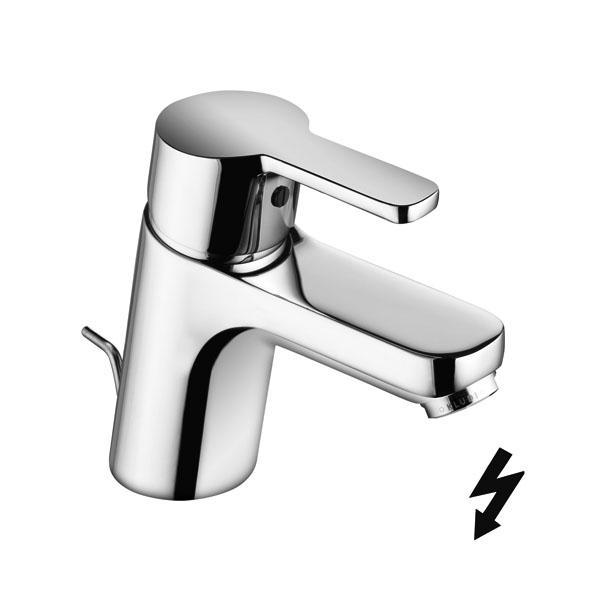 Kludi Logo neo - umyvadlová páková baterie, s odpadovou soupravou, pro beztlakový ohřívač vody 372760575