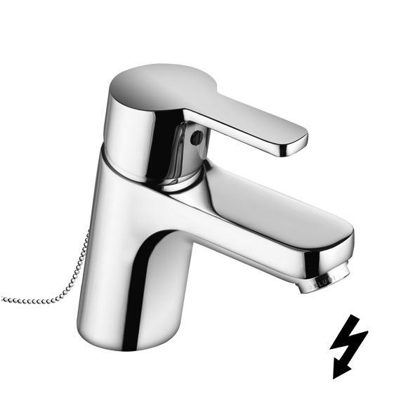 Kludi Logo neo - umyvadlová páková baterie, zápustný řetízek, pro beztlakový ohřívač vody 372750575