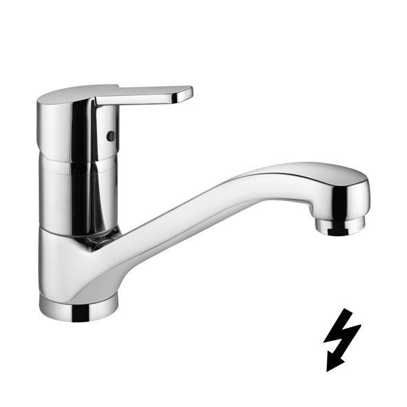 Kludi Logo neo - dřezová páková baterie, pro beztlakový ohřívač vody 379190575