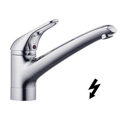 Kludi Komet - dřezová páková baterie, pro beztlakový ohřívač vody 337950562